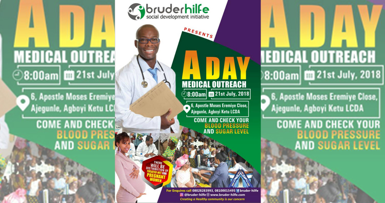 Bruder-Hilfe Set To Organize A Day Medical Outreach In Ajegunle
